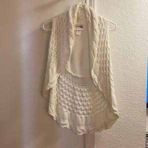 Medium white Body Central knit crochet.